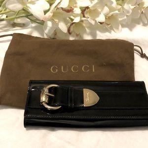Gucci Patent Leather Black Clutch